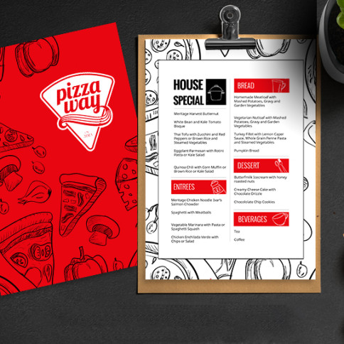Pizzeria Menu Design