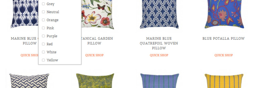 Ecommerce Website with Lookbook for a Pillow Store